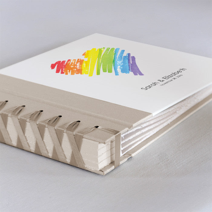 Personalized Small Album Rainbow Heart
