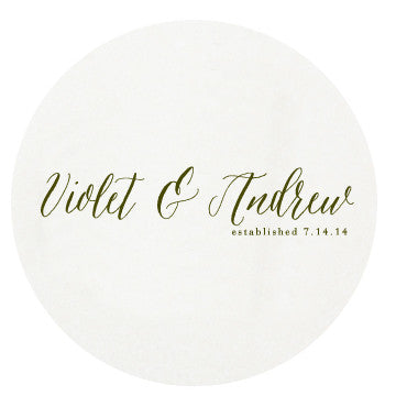 Letterpress Coasters - Wedded Bliss