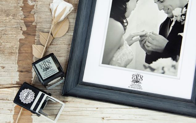 Custom Wedding Stamp CS3615