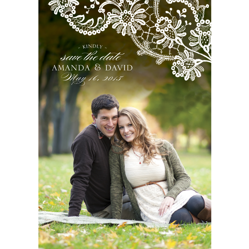 White Floral Save the Date