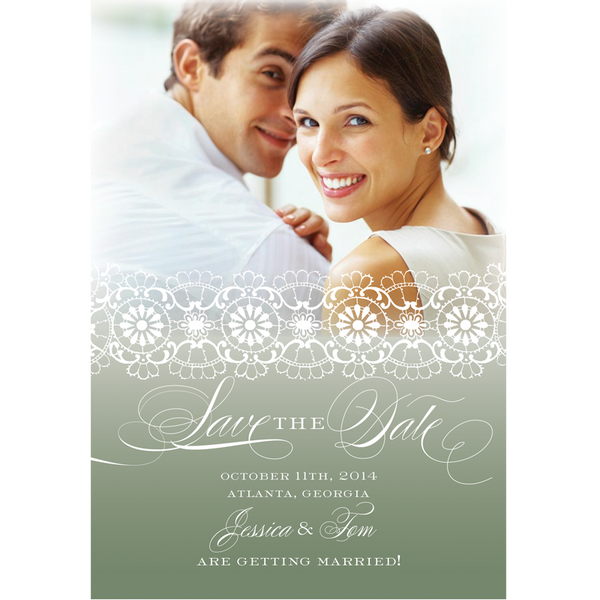 White Lace Save the Date