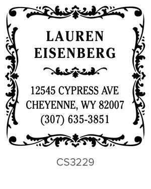 Custom Address Stamp CS3229
