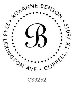 Custom Address Stamp CS3252
