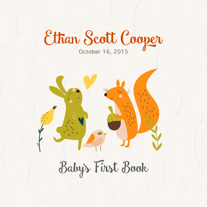 Personalized Baby's First Book Acorn Love