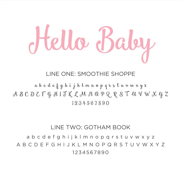 Personalized Baby's First Book Hello Baby - Pink