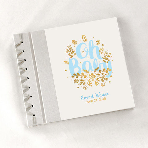 Personalized Baby's First Book Oh Baby - Blue