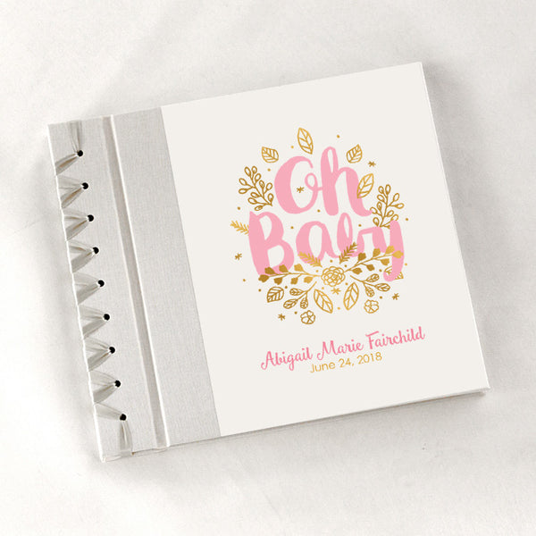 Personalized Baby's First Book Oh Baby - Pink