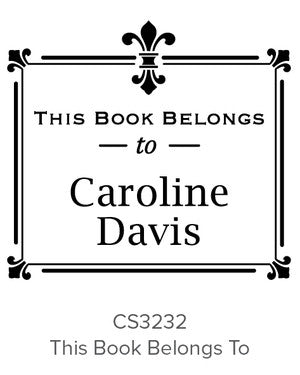 Custom Book Lovers Stamp CS3232