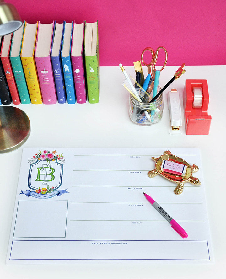 Crest - Personalized Desk Pad