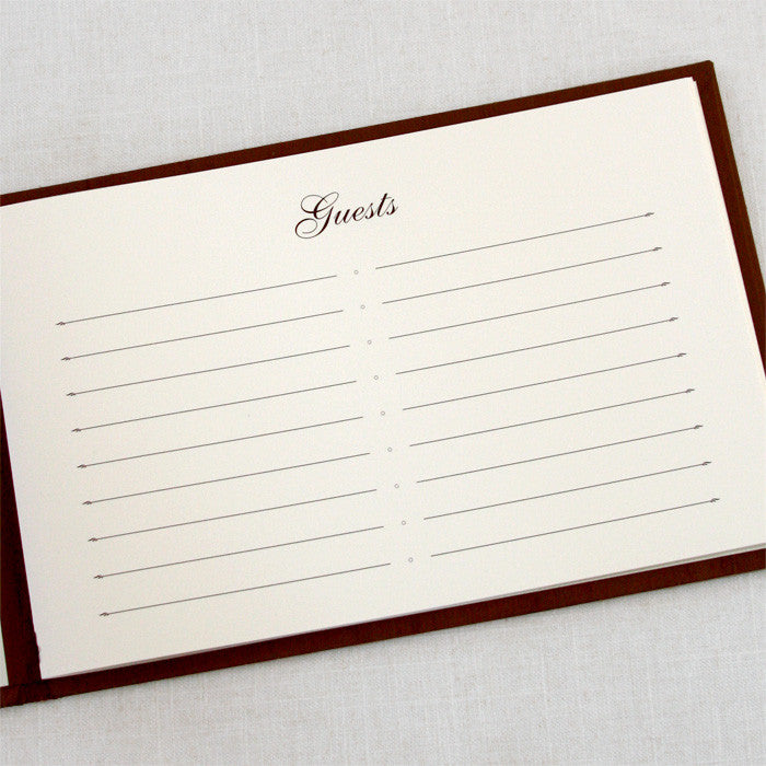 Classic Guestbook Basic Brown