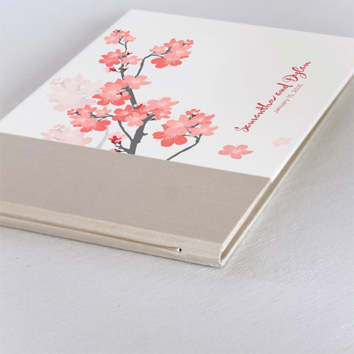 Personalized Guestbook Cherry Blossom