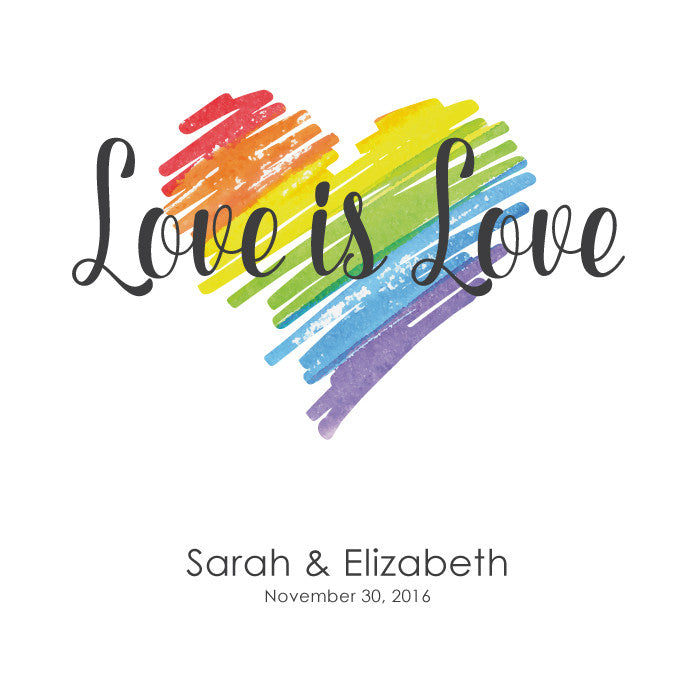 Personalized Guestbook Love is Love