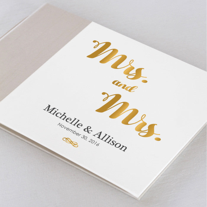 Personalized Guestbook Mrs. and Mrs.