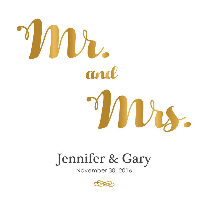 Personalized Guestbook Mr. and Mrs.