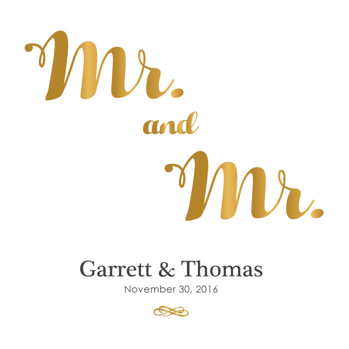 Personalized Guestbook Mr. and Mr.