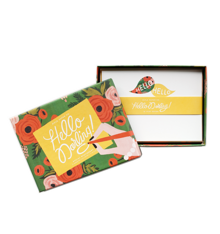 Rifle Paper Co. Hello Darling Social Stationery Set