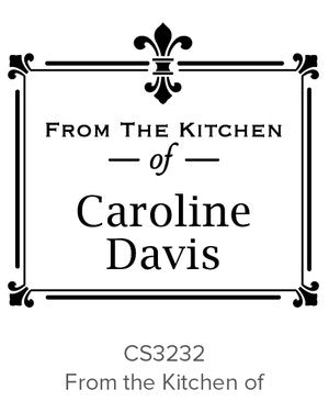 Custom Kitchen + Craft Stamp CS3232