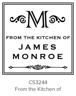 Custom Kitchen + Craft Stamp CS3244