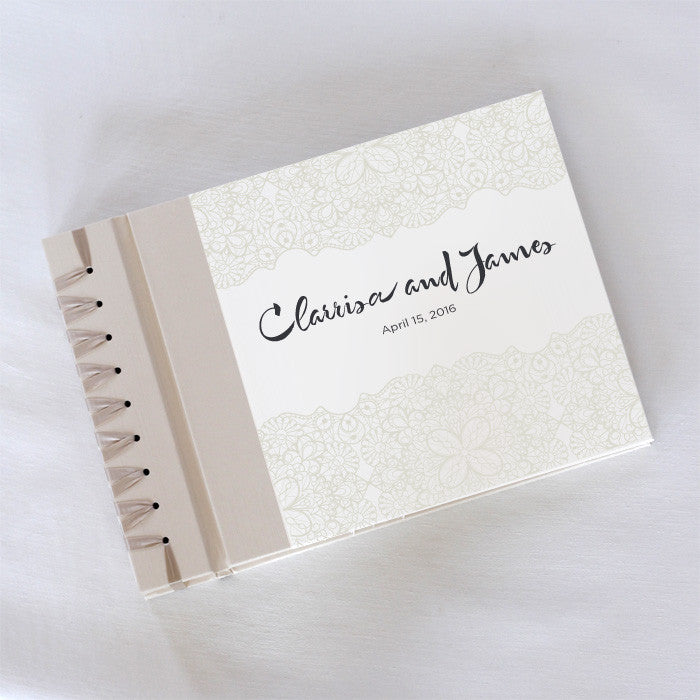 Personalized Large Album Pearl Lace