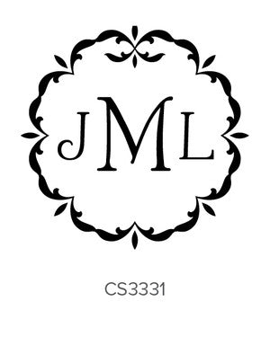 Custom Monogram Stamp CS3331