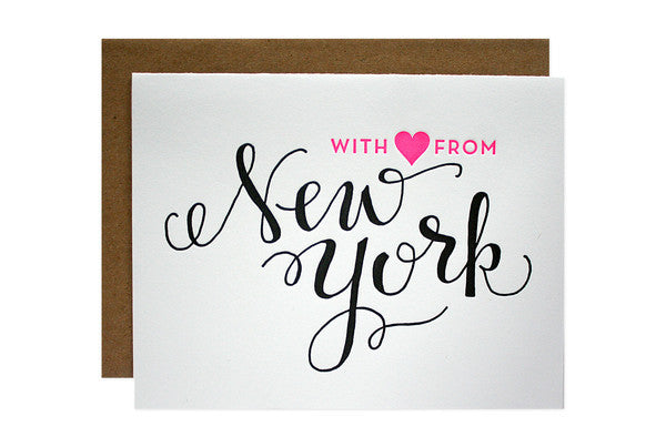 With love from New York note cards