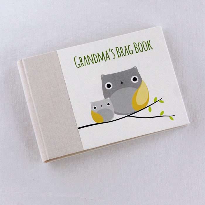 Grandma's Brag Book Owl Personalized