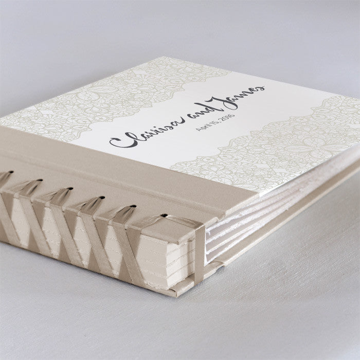 Personalized Small Album Pearl Lace