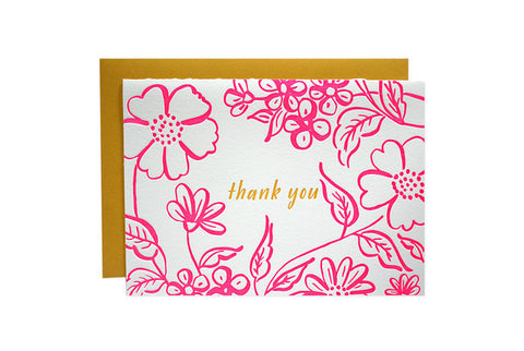 Parrott Design - Floral Thank You