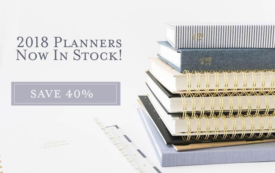 2018 Planners at PaperandPearl.com