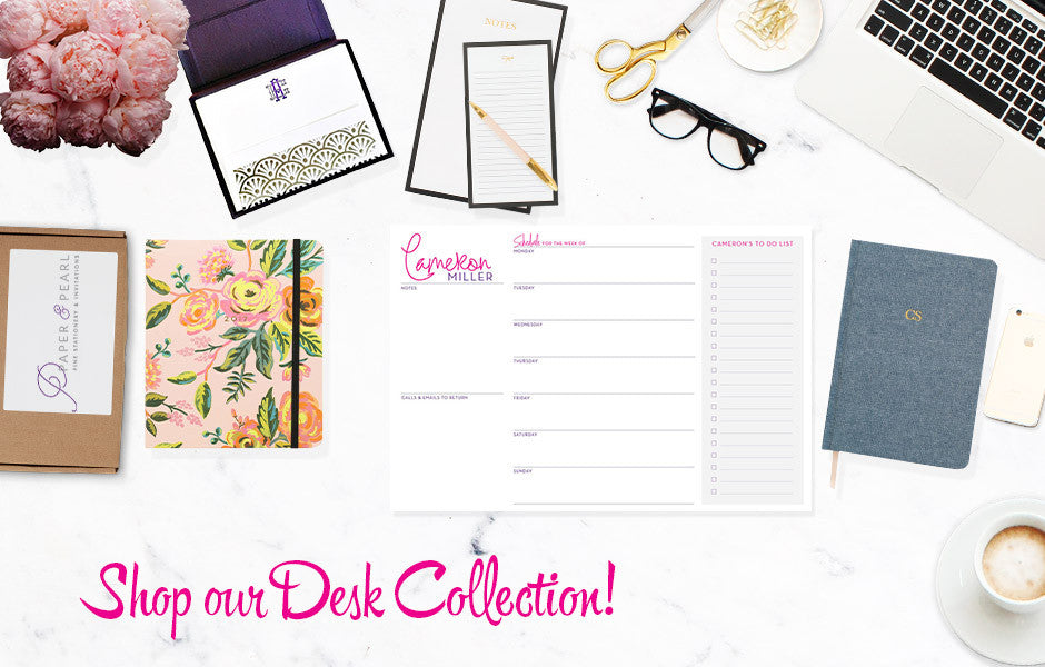 Desk Collection at PaperandPearl.com