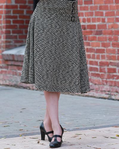 The Aviation Skirt - Tweed