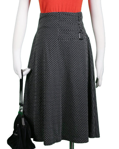 The Aviation Skirt- A'Pois Print