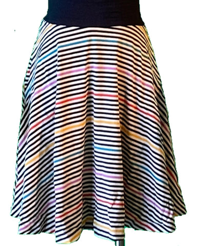 The Carnaby Skirt- Prismatic Stripe