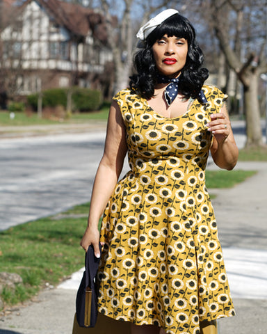 The Daydeam Dress - Girasole Print Plus