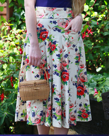 The Picnic Skirt - Bouquet Print