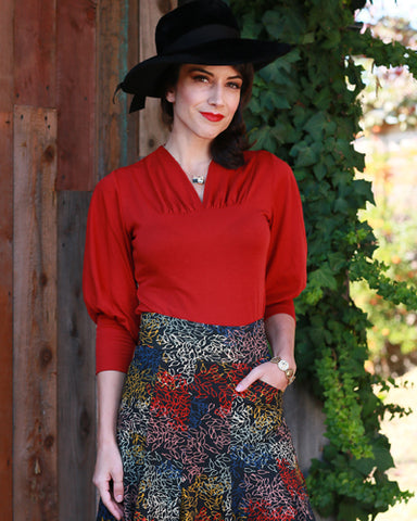 The Storyville Blouse - Paprika