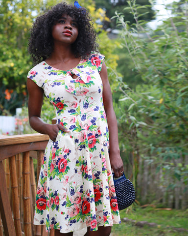 The Demoiselles Dress - Bouquet Print Plus