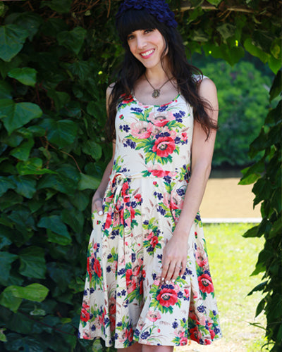 The Roadtrip Dress - Bouquet Print