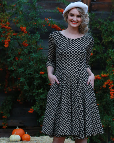 The Angelou Dress - Etched Dot Print