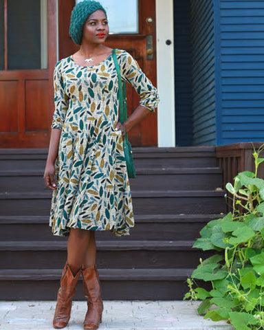 The Angelou Dress - Sage Print