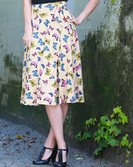 The Roam Skirt- Flutter Print
