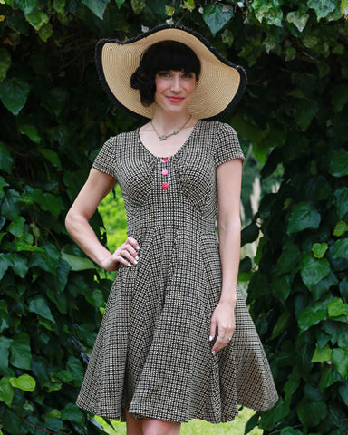 The Audrey Dress- Checkers Print SAMPLE *Final Sale*