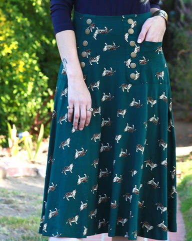 The Suffragette Skirt - Los Gatos Print EH555-330