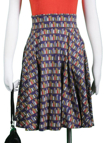 The Carnaby Skirt- Library Print