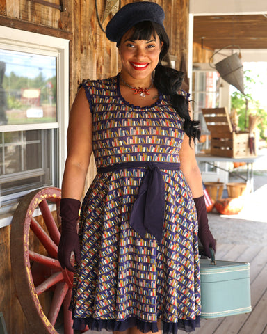 The Caron Dress - Library Print Plus