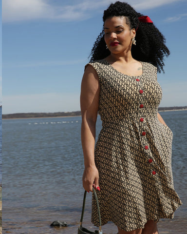 The Hemingway Dress - Sirens Print Plus Size