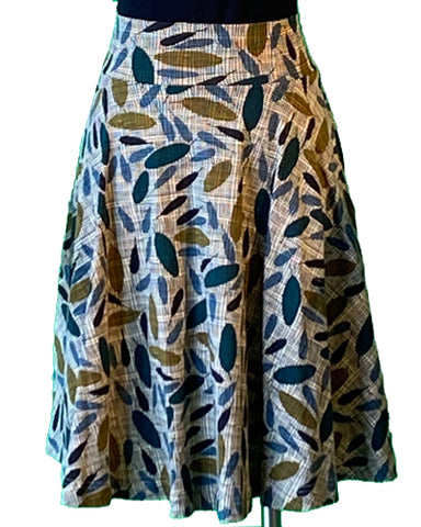 The Carnaby Skirt- Sage Print