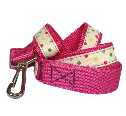 Multicoloured Polka Dot Dog Lead