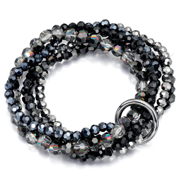 Fiorelli 5 Strand Metallic Beaded Bracelet