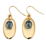 Fiorelli Oval Earrings With Aqua Crystal